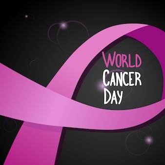 World cancer day breast disease awareness prevention poster greeting card