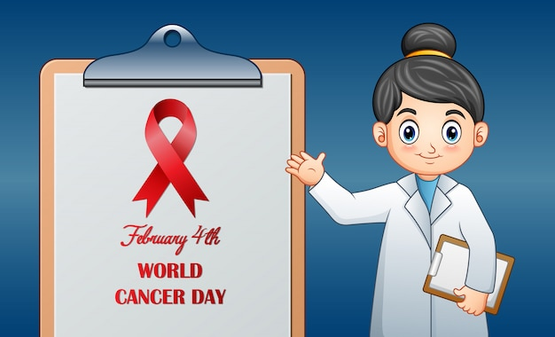 World cancer day, february 4, world cancer day design