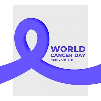 World cancer day february 4th poster