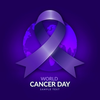 World cancer day gradient background