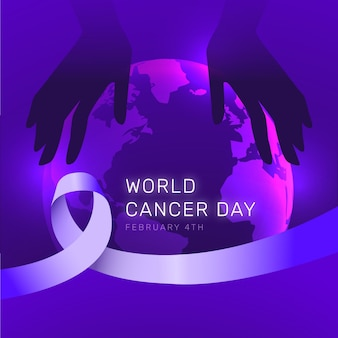 World cancer day gradient style