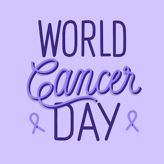 World cancer day lettering