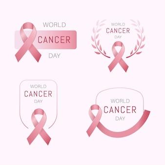세계 암의 날 로고 컬렉션