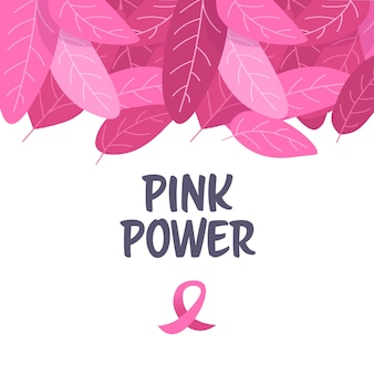 World cancer day pink ribbon icon on breast disease awareness prevention