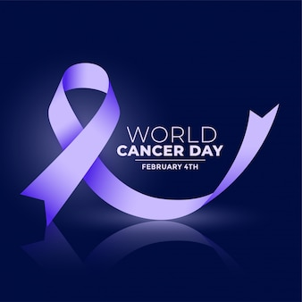 World cancer day ribbconcept banner