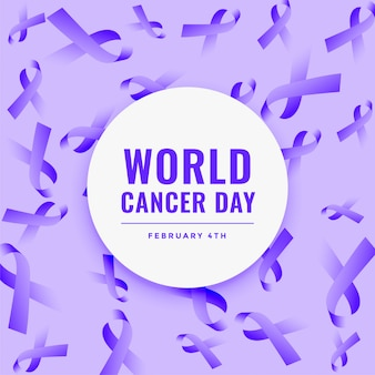 World cancer day ribbon background