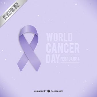 World cancer day ribbon