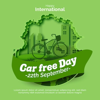 World car free day illustration