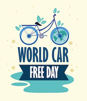 World car free day poster