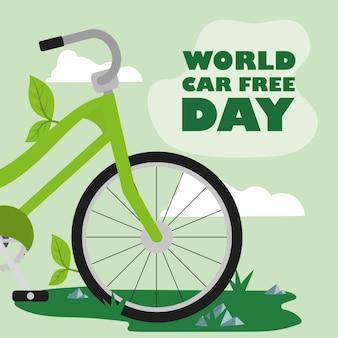 World car free day with bike