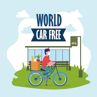 World car free and delivery man