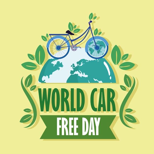 World car free ecological card