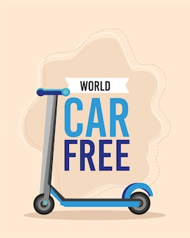 Самокат world car со свободным ударом