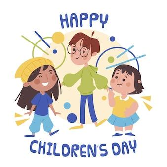 Design piatto per la celebrazione della giornata mondiale dei bambini