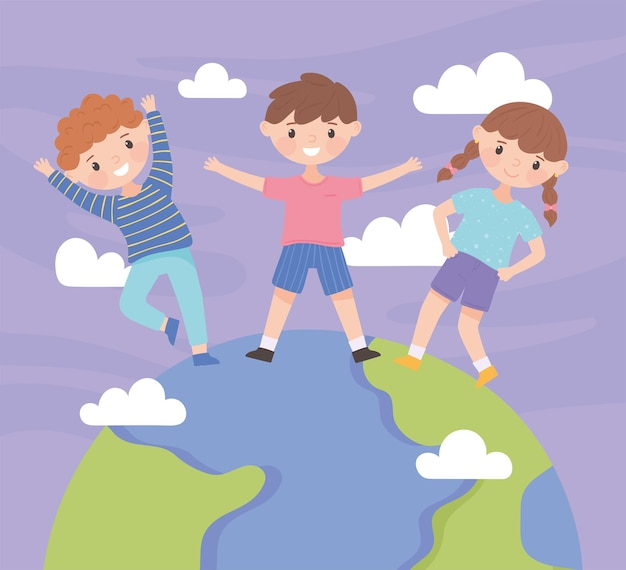 World childrens day cartoon