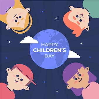 World childrens day illustration theme