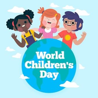 Stile della giornata mondiale dei bambini