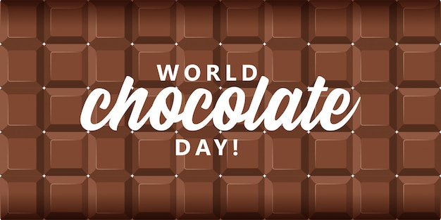 World chocolate day background