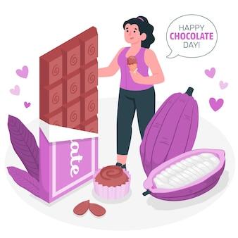 세계 초콜릿의 날 개념 그림