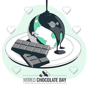 Illustrazione di concetto di giornata mondiale del cioccolato