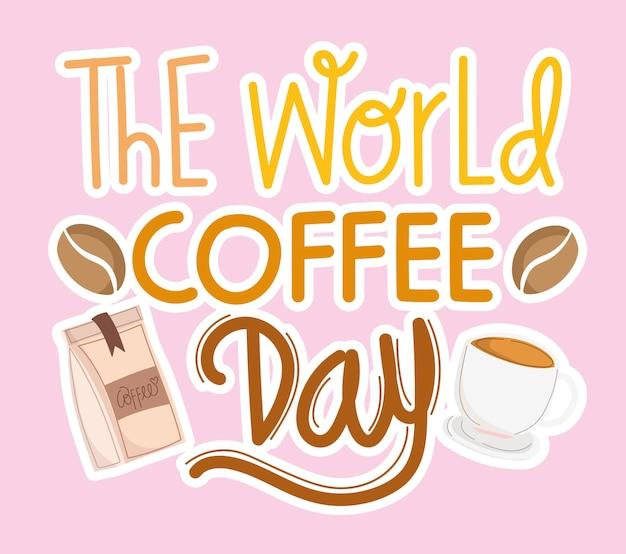 World coffee day card