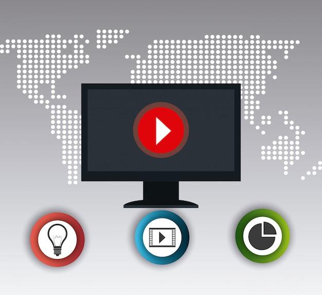 세계 연결 및 비즈니스 인포 그래픽