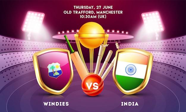 World cricket championship concept.