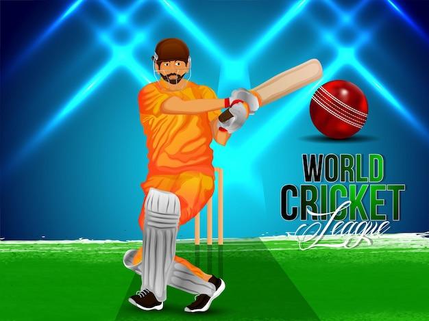 World cricket league tournament match with ccricketer