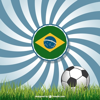 World cup background with brazilian flag