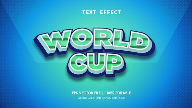 Редактируемый текстовый эффект чемпионата мира по футболу