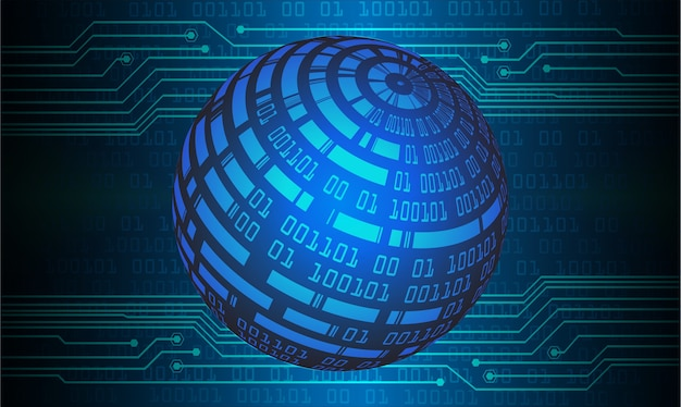 World cyber circuit future technology concept background
