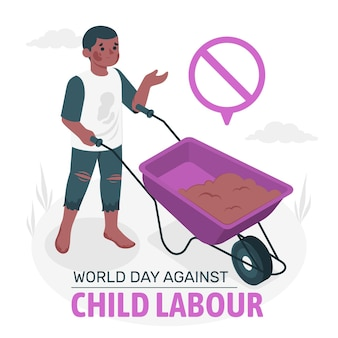 児童労働反対世界デーの概念図