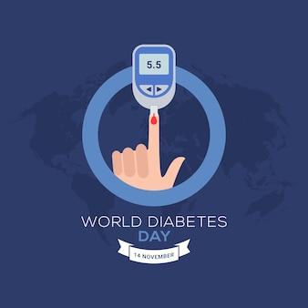 World diabetes day banner celebration 14 november awareness month