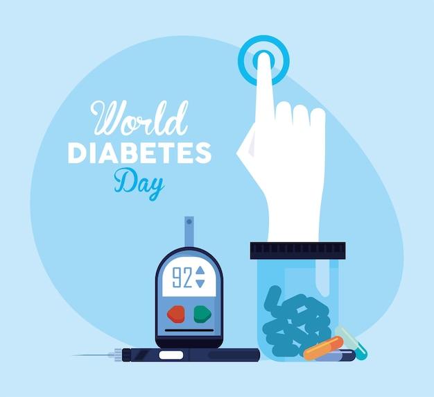 Карта всемирного дня диабета