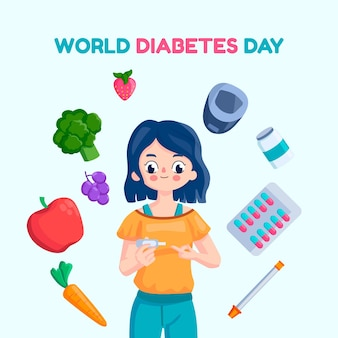 世界糖尿病デーのコンセプト