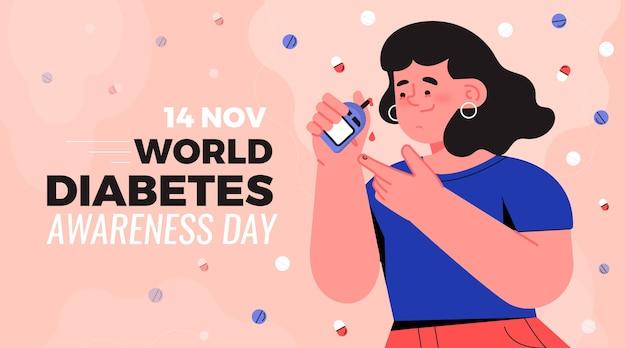 Concetto di giornata mondiale del diabete