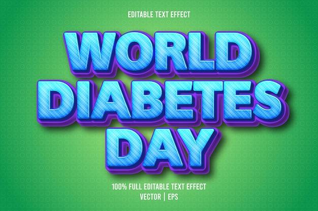 Всемирный день диабета редактируемый текстовый эффект мультяшном стиле