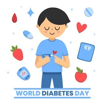 世界糖尿病デーのイラスト