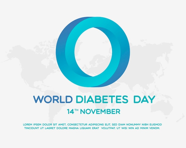 World diabetes day illutrator design