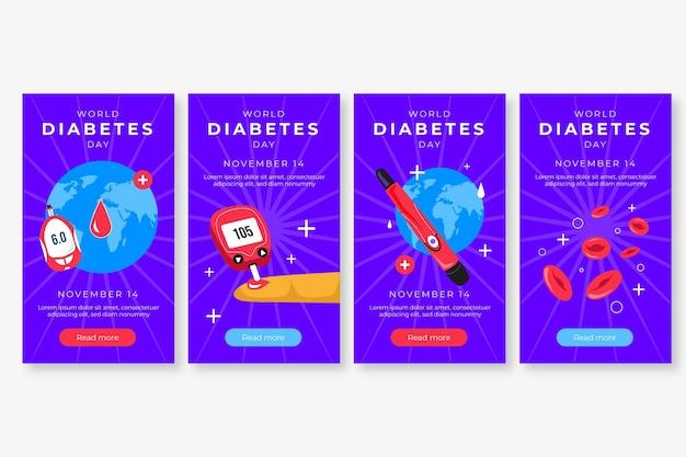 世界糖尿病デーのinstagramストーリーコレクション