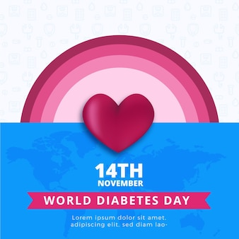 Всемирный день диабета в квадрате баннер