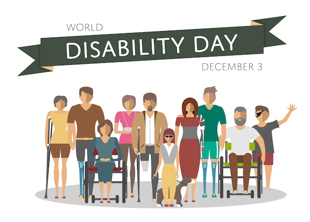 World disability day greeting card