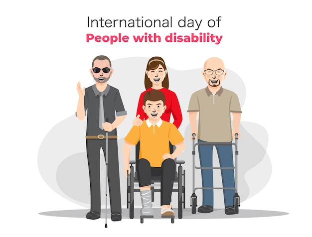 World disability day, handicapped persons.