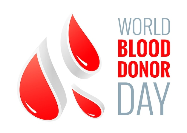 世界献血者デー-6月14日-紙カットスタイルのポスター。抽象的な赤いドロップと献血と医療ヘルスケアの概念。ベクターイラストeps10。