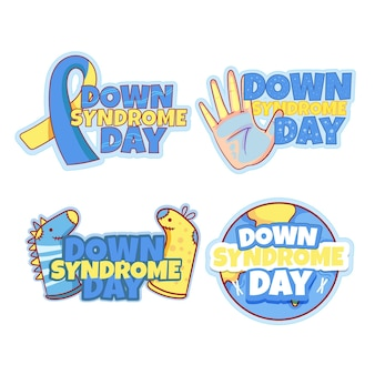 World down syndrome day badge collection