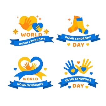 Коллекция значков всемирного дня синдрома дауна