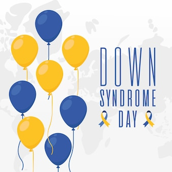 World down syndrome day balloons design, disability awareness and support theme vector illustration