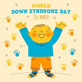 Giornata mondiale della sindrome di down disegnata a mano