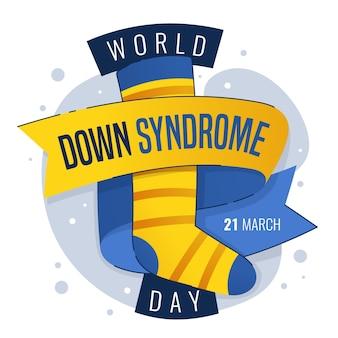 Всемирный день синдрома дауна рисованной