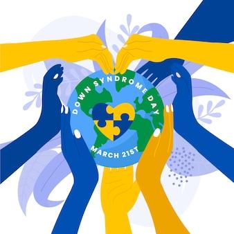 Иллюстрация всемирного дня синдрома дауна
